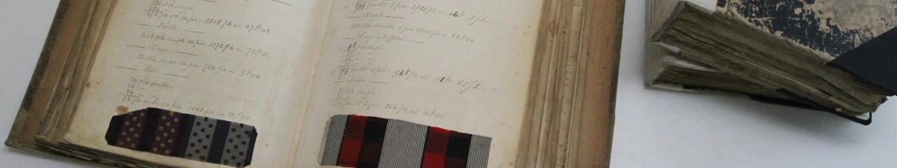 pagina di archivio tessile